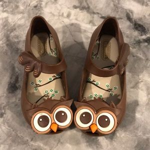 Mini Melissa Turkey/owl shoes